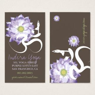 Purple Lotus Flower, Yoga Om Zen Business Card