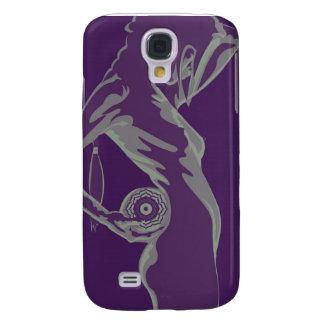 purple lotus galaxy s4 case