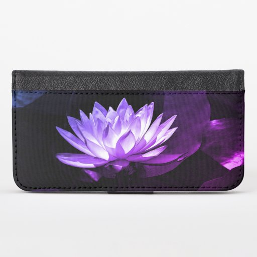Purple Lotus iPhone X Wallet Case