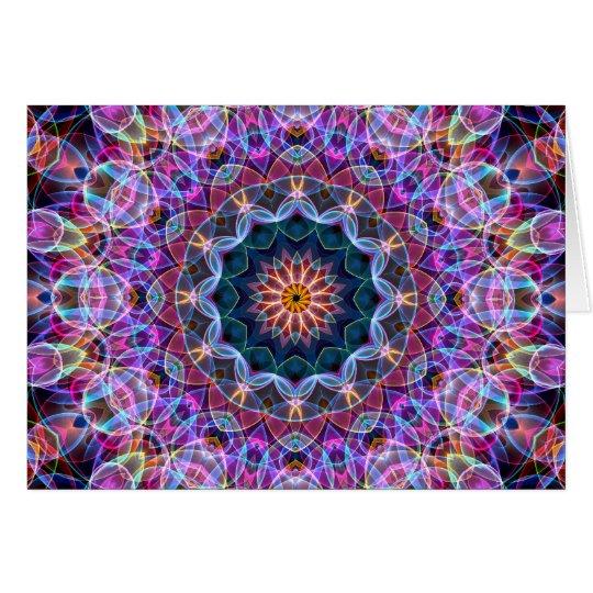 Purple Lotus kaleidoscope Card