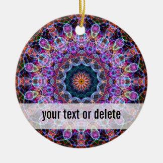 Purple Lotus kaleidoscope Christmas Ornament