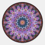 Purple Lotus kaleidoscope Classic Round Sticker