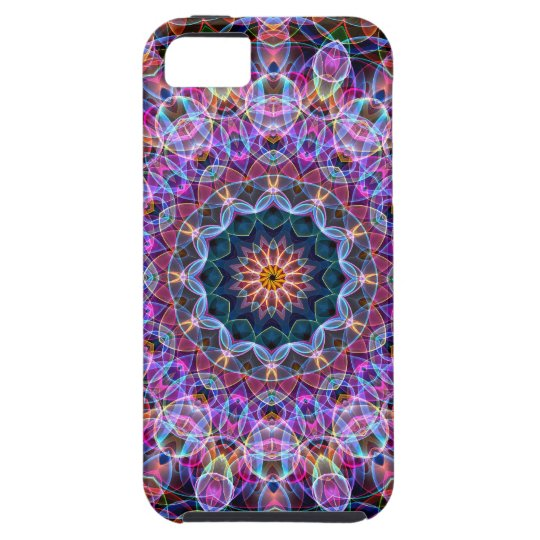 Purple Lotus kaleidoscope iPhone SE/5/5s Case