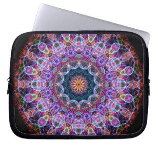 Purple Lotus kaleidoscope Laptop Sleeve