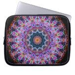 Purple Lotus kaleidoscope Laptop Sleeves