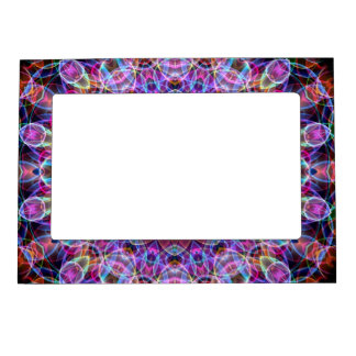 Purple Lotus kaleidoscope Magnetic Picture Frame