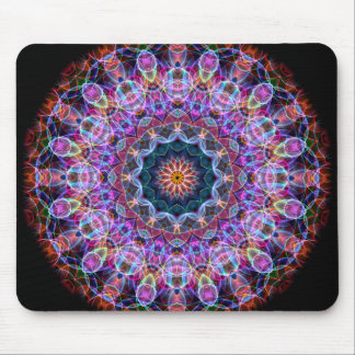 Purple Lotus kaleidoscope Mouse Pad
