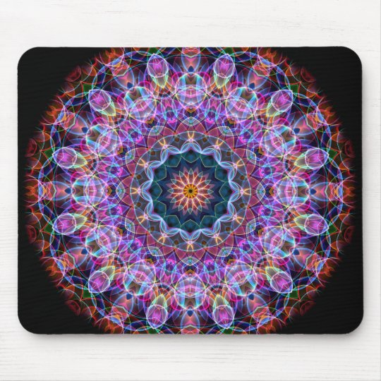 Purple Lotus kaleidoscope Mouse Pad