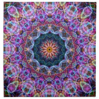 Purple Lotus kaleidoscope Cloth Napkin