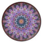Purple Lotus kaleidoscope Party Plate