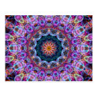 Purple Lotus kaleidoscope Postcard