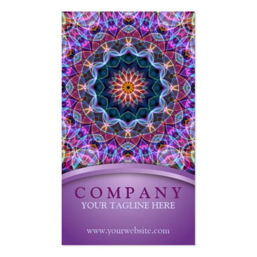 Purple Lotus Mandala Business Card Templates