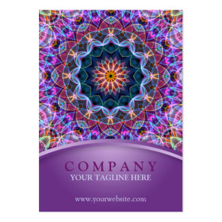Purple Lotus Mandala chubby Large Business Card