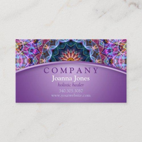 Purple Lotus Mandala Purple Business Card