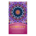 Purple Lotus Mandala with pink Business Card