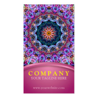 Purple Lotus Mandala with pink Business Card Template