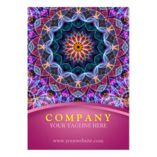 Purple Lotus Mandala with pink chubby Large Business Card