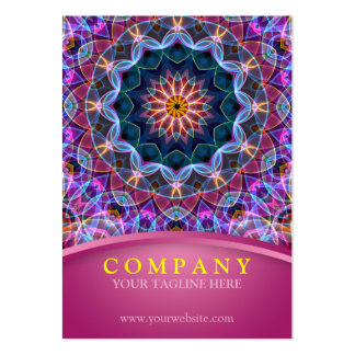 Purple Lotus Mandala with pink chubby Large Business Cards (Pack Of 100)