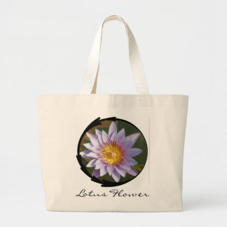 Purple Lotus/Water Lily Canvas Bags
