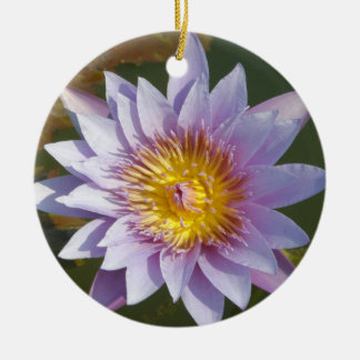 Purple Lotus/Water Lily Christmas Ornament