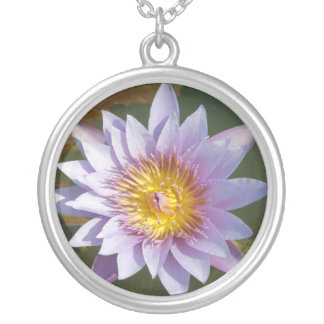 Purple Lotus/Water Lily Necklaces