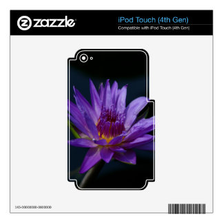 Purple Lotus Waterlily iPod Touch 4G Skin