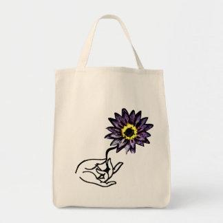 Purple Lotus - Yoga Tote Bags