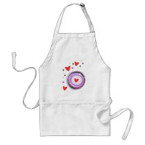 Purple Love cute design Adult Apron