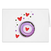 Purple Love cute design Card