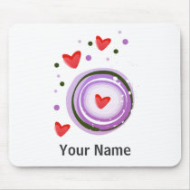 Purple Love cute design Mouse Pad