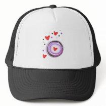 Purple Love cute design Trucker Hat