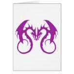 Purple Love Dragons Cards
