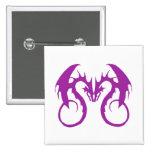 Purple Love Dragons Pins