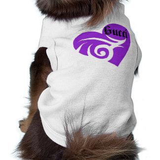 Purple love heart small dog clothing