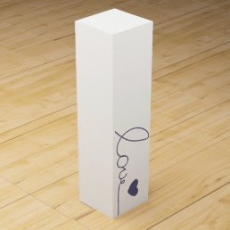 Purple Love Heart Wine Box