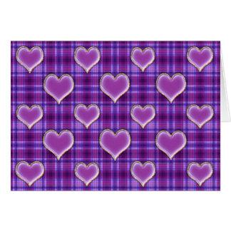 Purple Love Hearts Valentine Card