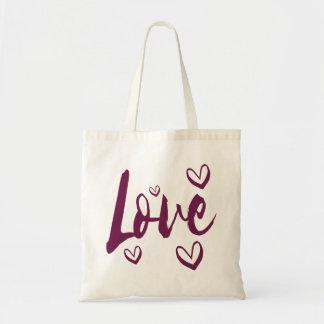 Purple Love Hearts - Wedding, Bridal Shower Tote Bag
