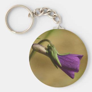 Purple Love (purple flower) keychain