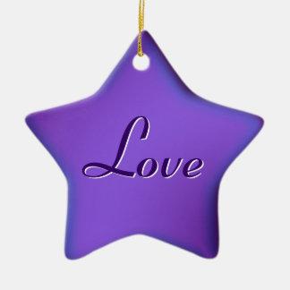 purple Love star ornament