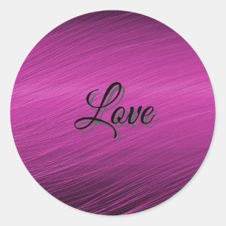 Purple Love Round Sticker