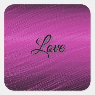 Purple Love Square Sticker