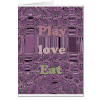 Purple  Loves &  Play Eat Africa South Traditional Greeting Card
