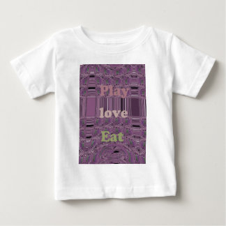Purple  Loves &  Play Eat Africa South Traditional Infant T-shirt