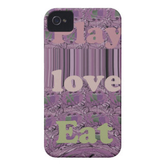Purple  Loves &  Play Eat Africa South Traditional iPhone 4 Case-Mate Case