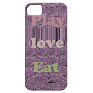 Purple  Loves &  Play Eat Africa South Traditional iPhone SE/5/5s Case