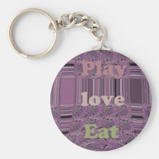 Purple  Loves &  Play Eat Africa South Traditional Keychain