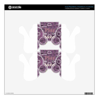Purple  Loves &  Play Eat Africa South Traditional PS3 Controller Skins