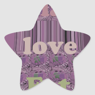 Purple  Loves &  Play Eat Africa South Traditional Star Sticker
