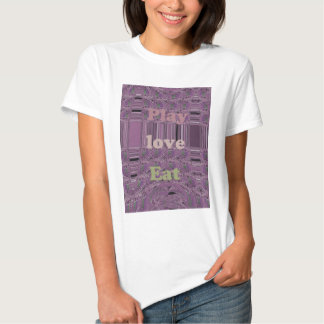 Purple  Loves &  Play Eat Africa South Traditional T-shirt
