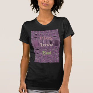 Purple  Loves &  Play Eat Africa South Traditional Tee Shirt